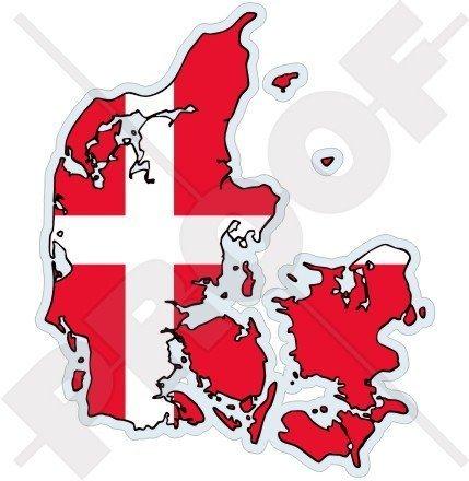 DÄNEMARK Dänische Karte Flagge DANE 120mm Auto & Motorrad Aufkleber, Vinyl Sticker (Flagge Dänische)