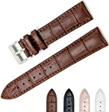 CIVO uhrenarmband Echtes Leder Uhrband Watch Strap Top Kalbsleder 18mm