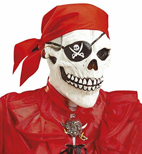 (Widmann 6850P - Maske Piraten - Totenkopf mit Augenklappe, Ohrring und Bandana)