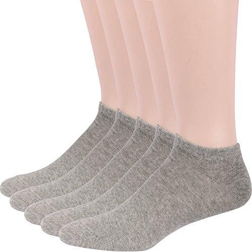RioRiva Chaussette Homme Liner Ankle Socquette Sportive Décontracté Chaussette Grande Taille (EU 39-45/US 6-11, MSK76+1-lot de 5p)
