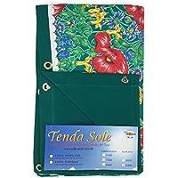 Cortina sol de exterior jardín Impreso Fondo Verde confezionata–cm. 150x 350