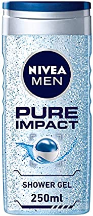 NIVEA MEN Pure Impact Shower Gel, Fresh Scent, 250ml