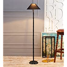 Black Cotton & Siffner Designer Stick Floor Lamp /Standing Lamp By New Era For Living Room /Drawing Room/Office/Bedroom/Decoration /Corner/Gift/Lobby