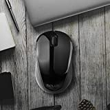 OUTAD Black Delux M135G Mouse Portable Wireless Mouse 1000 DPI Quick Click Mouse Universal Pc Computer Mice For Office Home Use