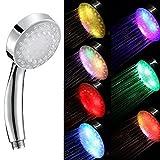 Neu 7 Farben aendernd Temperature Sensing LED Duschkoepfe Wasserregenbogen Badezimmer Hahn farbig Licht Dusche Kopf Sprenge Universal
