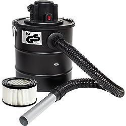TecTake Aspirateur à cendres 20L moteur motorisé 1200 watt et filtre cheminée BBQ poêles // avec SGS-certificat (Aspirateur de à cendres + 2 filtre | no. 401048)