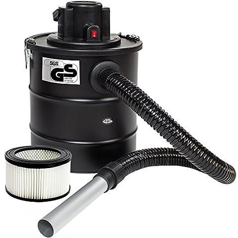 TecTake Aspirateur à cendres moteur motorisé 20L 1200 watt et filtre cheminée + 1 filtre supplémentaire