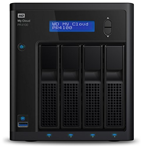 WD My Cloud Pro Series PR4100 - Almacenamiento en Red (NAS) de 24 TB y Servidor Multimedia con transcodificación