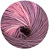 50 gr. Cora-Color Fb. 241 flamingo mix, Brandneu, Strickwolle, Merinowolle, Online, Linie 20