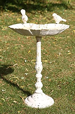 'The Colford' Rustic Cream Bird Bath & Feeder by Black Country Metal Works