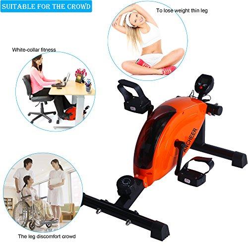 Teamyy Mini Fitness Heimtrainer mit Control Pedal Ausdauertraining Excerciser Arm und Beintrainer Bewegungstrainer Haus Büro
