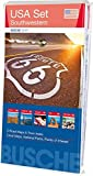 USA Set – Southwestern: 5 Karten im Set: Arizona, California, Nevada, Utah, Übersichtskarte USA West; Busche Map Straßenkarten (Busche Map Straßenkarten / USA, Canada, Weltweit)