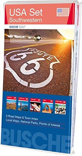 USA Set - Southwestern: 5 Karten im Set: Arizona, California, Nevada, Utah, Übersichtskarte USA West; Busche Map Straßenkarten (Busche Map Straßenkarten / USA, Canada, Weltweit)