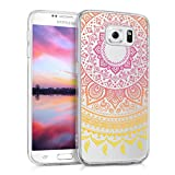 kwmobile Samsung Galaxy S6 / S6 Duos Hülle - Handyhülle für Samsung Galaxy S6 / S6 Duos - Handy Case in Gelb Pink Transparent