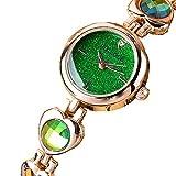 Deanyi Armbanduhr Strass Sternenhimmel einfache Art und Weise Frauen Quarz Uhr Strass Geschenk Set Kristall Accented Ceramic Metal Green Schmuck