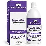 Olio C8 MCT Di Premio | 3X Più Chetone Che Producono C8 Rispetto Agli Oli MCT | Trigliceridi acidi caprilici puri | Paleo, glutine e vegano amichevole | Bottiglia libera BPA | KetoPerformance® (1000ml) immagine