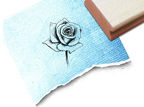 Motivstempel Bildstempel Scrapbookstempel - Rose - Kupferstich (Sommer-malvorlagen Zum Drucken)