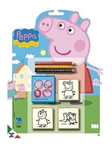 MULTIPRINT Peppa Pig - Juegos de Sellos para niños, Caucho, Madera, 3 año(s), Italia, 210 mm, 20 mm