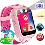 TURNMEON Smart Watch Phone GPS Tracker For Kids Girls Boys Smartwatch With Camera SOS Alarm Wrist Anti Lost Bracelet Children Holiday Birthday Gifts Travel Camping S6 Pink