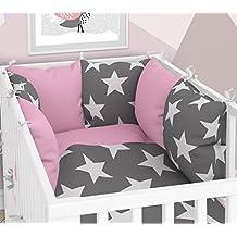 Babybett-W/äsche und Kissen-Nestchen Sechs Kissen samt Bez/ügen f/ür das Babybett 70 x 140 cm