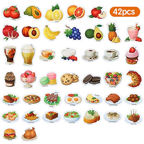 Baobë Magnete Kinder ,Magnete Spielzeug Obst Gemüse,Lebensmittel Magnete,42 Stück -