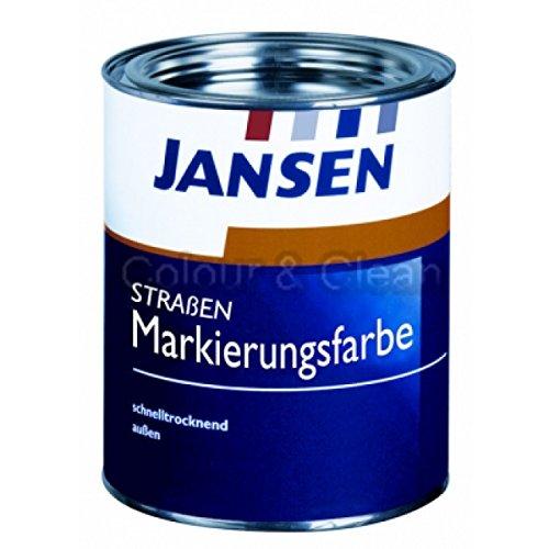 Preisvergleich Produktbild JANSEN Straßenmarkierungsfarbe 750ml Fb. weiß