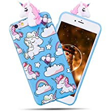 coque iphone 6 silicone licorne 3d