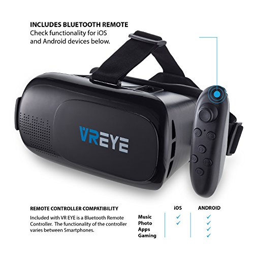 Bitmore VR Eye 3D Virtual Reality Headset for Smartphones
