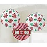 Amscan Weihnachten Papier Laterne hängen Dekorationen (3Pack)