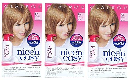 3-pack-clairol-nice-n-easy-colour-blend-foam-permanent-hair-dye-8g-medium-golden-blonde