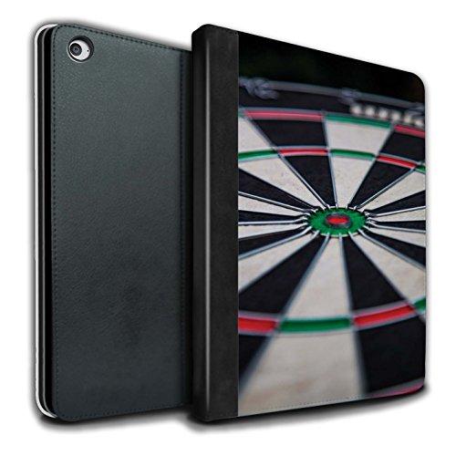 Preisvergleich Produktbild STUFF4 PU-Leder Hülle/Case/Brieftasche für Apple iPad Air 2 tablet / Dartscheibe Muster / Darts Foto Kollektion