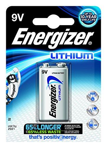Energizer L522-8 Lithium Energizer Ultimate 9V Block Batterie 6LR61, 8er pack