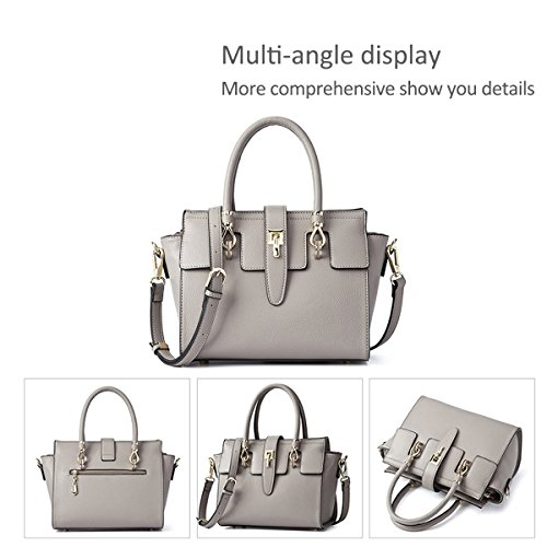 Crossbody Damen PU DORIS Handtaschen Grau Tasche Mode Neue Umhängetasche NICOLE Tasche Flügel Grau Tasche qz4ag4