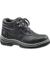 In Pelle Walksafe Scarpa Art Antinfortunistica Nera Safe Walk Alta Silverstone wgq07p