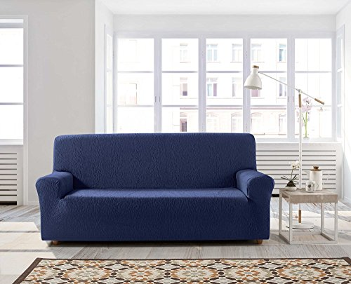 Zebra Textil 12441 copridivano elasticizzato Beta, 4 posti, Blu, null