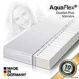 Orthopädische 7 Zonen AquaFlex Comfort Plus Premium Memory Kaltschaummatratze, Größe wählbar, Härtegrad H2, H3, H2&H3, beidseitig nutzbar, Microfaserbezug Waschbar, ÖkoTex Zertifiziert (100x200x12cm)