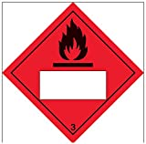 """Vsafety 6d027af-s""""inflamable 3 un fondo"""