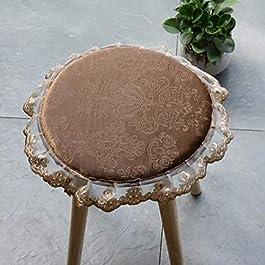 Coussinets de selles rondes en peluche, motif de fleurs épaisses Coussin de tabouret de fond antidérapant Coussin de…