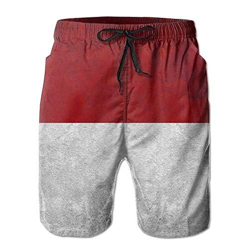 Indonesische Flagge Schnell Trockene Boardshorts Strand Shorts Badehose Männer Badeanzug M -