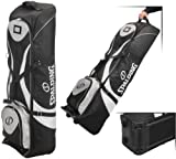 Spalding Padded Golf Bag Travel Cover with Wheels - Black/White