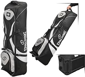 Spalding Padded Golf Bag Travel Cover With Wheels Black