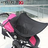 Xcellent Global protection solaire UPF 50+ ombrelle, couverture, bouclier contre le soleil pour poussette, landau, porte-bébé HG198