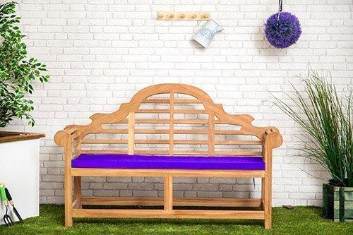 Gardenista Wasserabweisend Lutyens Gartenbank Kissen in lila-Groß