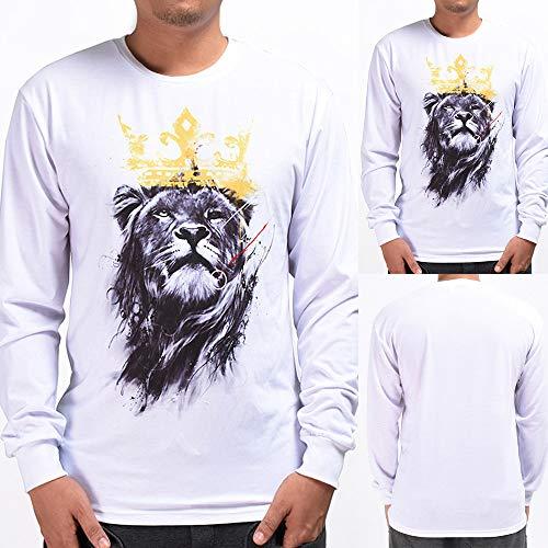 Qinsling felpacon cappuccio uomo inverno maglione girocollo manica lunga stampa leone 3d sottile maniche lunghe distintivo hoodie sweatshirt camicetta dolcevita classico tops