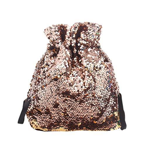 Royalr Frauen Kordelzug Reversible Sequin Clutch Handtasche Messenger Bags Damen-Beutel-Geldbeutel-Schulter-Bling Taschen -