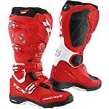 TCX Comp Evo Michelin Enduro Off Road MX MotoCross Boots - Red White 46