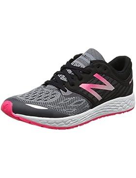 New Balance Fresh Foam Zante v2, Zapatillas para Bebés, Negro (Black/Pink), 39 EU