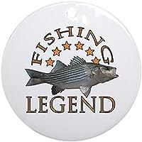 CafePress–Leggenda di pesca spigola Ornament (rotondo)–Vacanza decorazione
