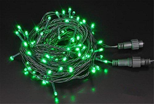 WEIMEI 10M 100 Natale decorativo lampada LED String luci all'aperto impermeabile per interni ed esterni casa prato giardino matrimonio , green - Camera Pull String