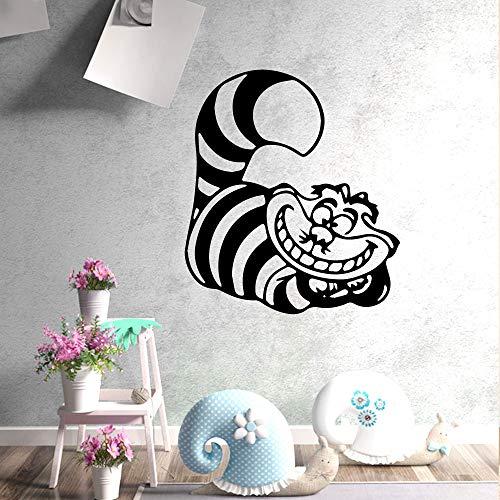 zhuziji Amerikanischen Stil Verrückte KatzeWandkunstAufkleber Moderne Wandtattoos Zitate Vinyls Aufkleber Dekor Wohnzimmer Schlafzimmer Abnehmbare AR43 cm X 47 cm